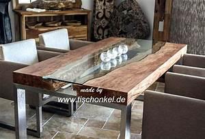 Wurzelholz Tisch Mit Glasplatte : designtisch mit kunstvoller glasplatte der tischonkel ~ Bigdaddyawards.com Haus und Dekorationen