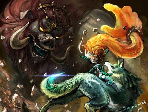 The Legend Of Zelda Twilight Princess Wolf Link Midna