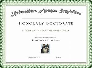 honorary diploma template doctorate degree certificate With phd diploma template