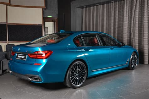 bmw m760li individual looks special in blue coat carscoops