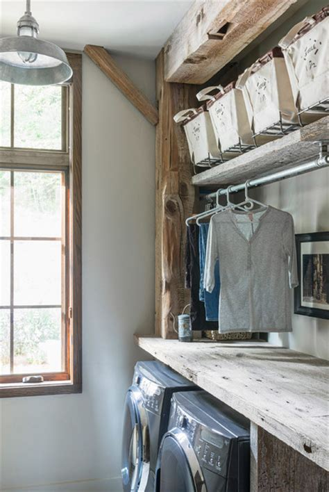 beaucatcher barn home rustic laundry room