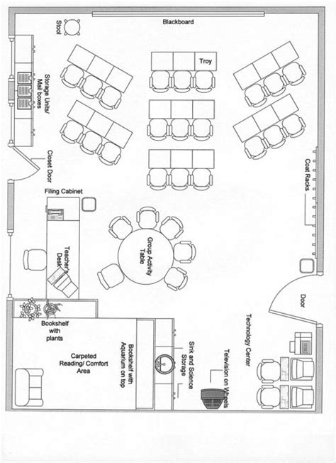 preschool classroom arrangement diagrams classroom layout on 189