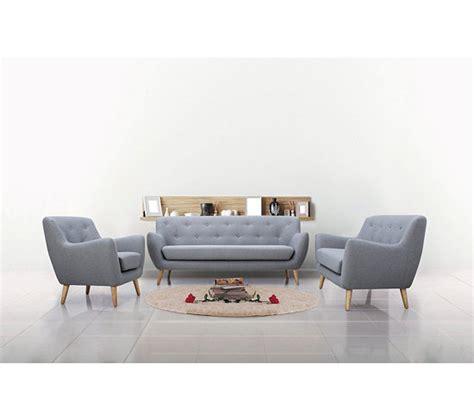 canapé convertible mobilier de fauteuil scandinave milo tissu gris clair fauteuils but