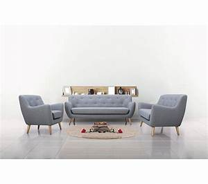 Fauteuil Scandinave Tissu : fauteuil scandinave milo tissu gris clair fauteuils but ~ Teatrodelosmanantiales.com Idées de Décoration