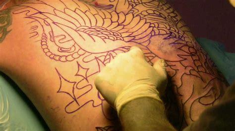 Maik´s Back Piece . Tattoo Session 1