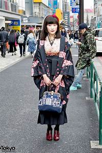 Japanese Kimono Steampunk Accessories On The Street In