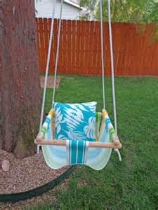 diy tree swing for a baby kidsomania