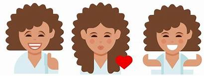 Emoji Dove Hair Curly Curls Campaign Keyboard
