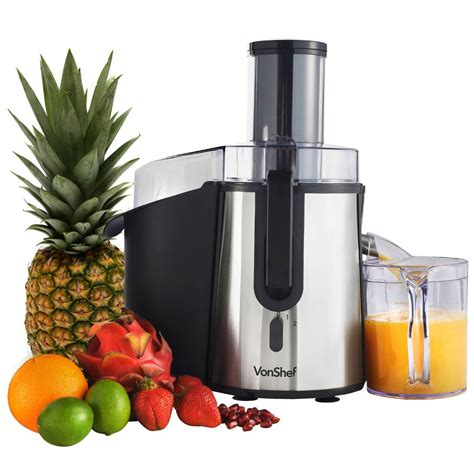 fruit juicer whole blender vonshef professional powerful stainless steel juice juicers mouth wide kitchen christmas which better gift guide garden