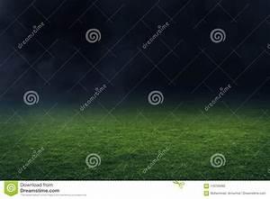 Soccer Stadium Field At Night Stock Photo - Image of ...