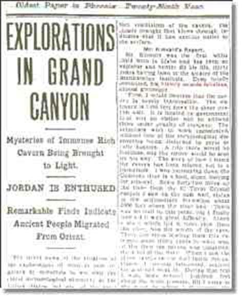 phoenix gazette grand canyon article text april