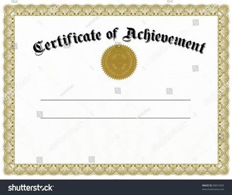 Certificate Template Blank Certificates