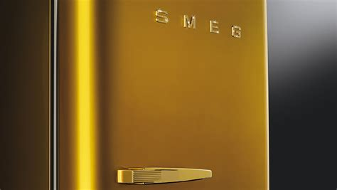golden fab  jewelled fridge design icon smeg