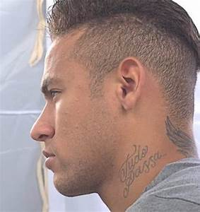 23 Neymar Jr Cool Neck Tattoos