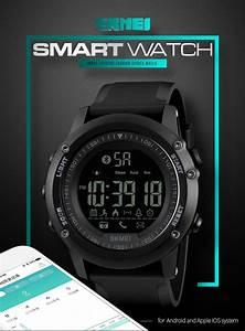 SKMEI 1321 Men's Bluetooth Smart Watch, Waterproof Digital ...