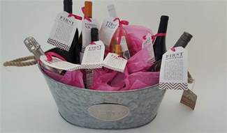 wedding shower gift basket ideas bridal shower gift diy to try a basket of firsts for the and groom
