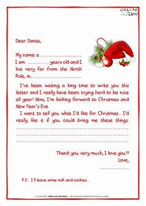 printable sample letter to santa claus with ps santa hat 21 With simple letter from santa