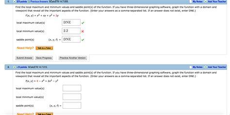 local minimum values saddle maximum max min points help point solved need
