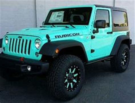 white jeep with teal accents tiffany blue 2 door jeep rubicon fuel offroad wheels