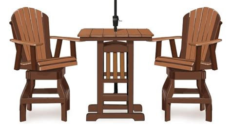 33 quot adirondack sq bar table 2 chairs amish swings things