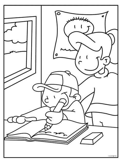 Www School Kleurplaten Nl by Kleurplaat Michiel Krijgt Les Op School Kleurplaten Nl