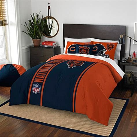 nfl chicago bears embroidered comforter set www
