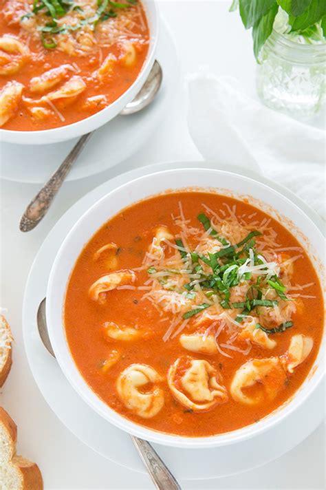 tomato tortellini soup slow cooker tomato basil tortellini soup slow cooker italian recipes popsugar food photo 9