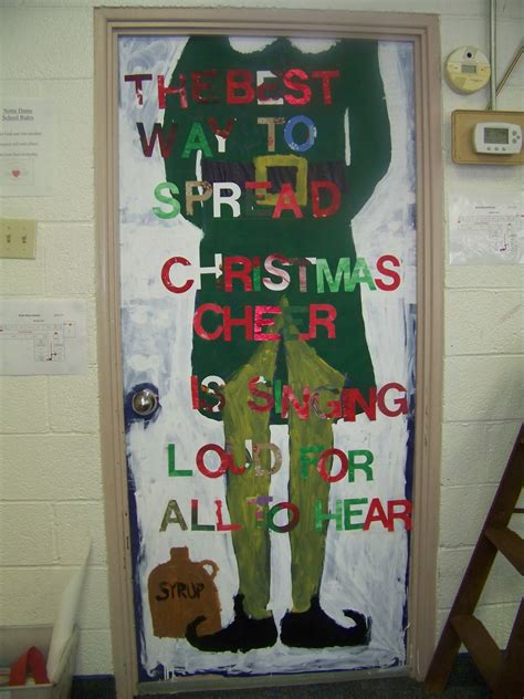the notre dame school talent show 2013 christmas door decorating contest