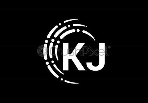initial monogram letter   logo design vector template kj stock vector crushpixel