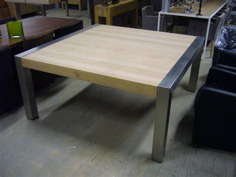 eettafel l vierkant vierkante eettafel rvs poot te boveldt meubelmakerij