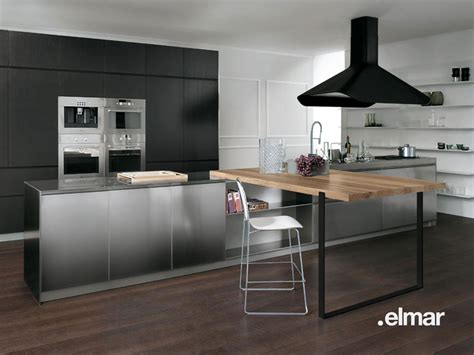 hotte cuisine roblin la cuisine bois et inox d 39 elmar inspiration cuisine
