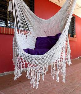 Fauteuil Suspendu Macramé : fauteuil suspendu en macram balcon ou salon ~ Teatrodelosmanantiales.com Idées de Décoration