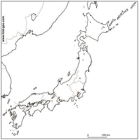 fond de carte sur le japon avec les regions  les villes