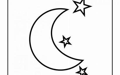 Moon Coloring Stars Printable Pages Getcolorings Getdrawings