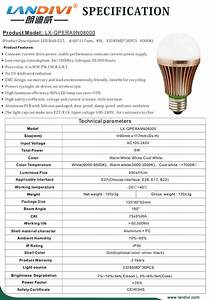 W led bulb specifications outdoor lighting street