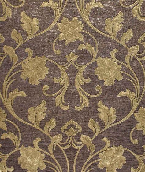 exclusive embossed cartier goldbrown floral wallpaper