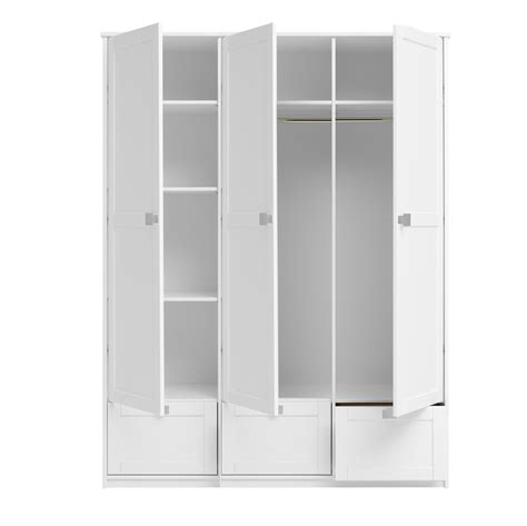 Narrow White Wardrobe With Drawers by 15 Photos 3 Door White Wardrobes With Drawers