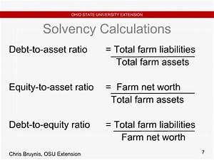Ohio State University Discusses Farm Financial Ratios