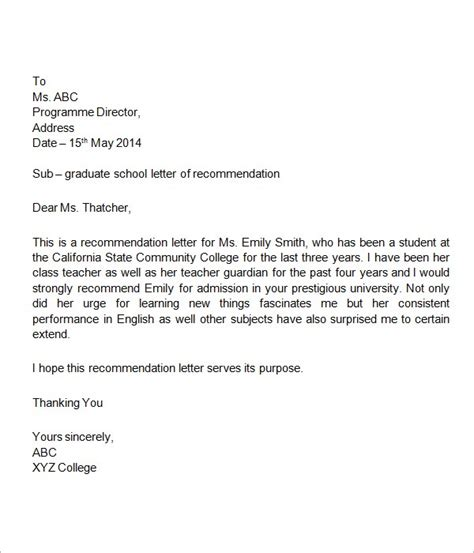 letter of recommendation for high school student letter of recommendation for high school student writing 9929