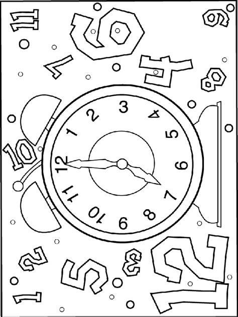 Kleurplaat Abstracte Klok by Klokkijken 7 Uur