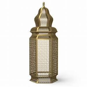 3d model of moroccan brass floor lamps for 3 bulb brass floor lamp