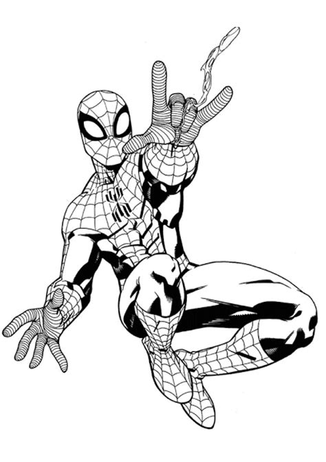 spider man coloring pages print  coloringsnet