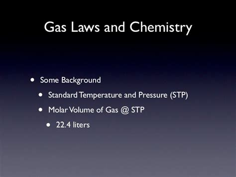Gas Laws & Chemistry