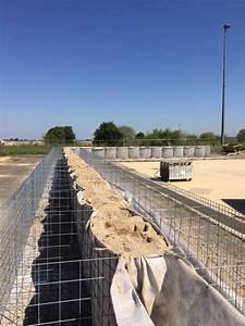 Mur Végétal Anti Bruit : mur anti bruit en gabions et noyau de sable construction ~ Premium-room.com Idées de Décoration