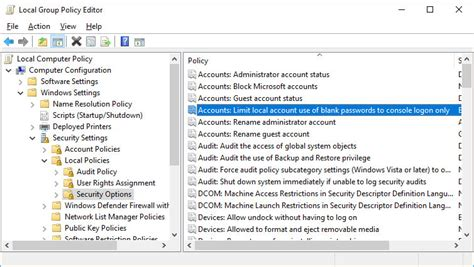 To locate and change this policy: آموزش Local Group Policy - بخش Security Options - پالیسی Accounts: Limit local account use of ...