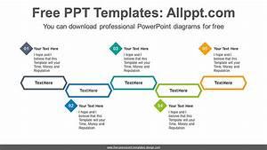 Five Hexagon Diagrams Powerpoint Diagram Template