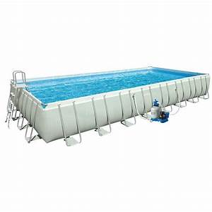 Piscine Hors Sol Rectangulaire Intex : ultra silver 975x488x132 piscine tubulaire intex achat vente irrijardin ~ Melissatoandfro.com Idées de Décoration