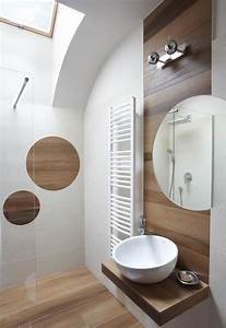 Caillebotis Bois Salle De Bain : carrelage salle de bain imitation bois 34 id es modernes ~ Premium-room.com Idées de Décoration