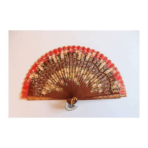 hand fan in spanish spanish hand fan with certificate handmade painted and