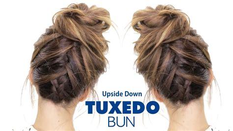Tuxedo Braid Bun Hairstyle ★ French Braid Hairstyles